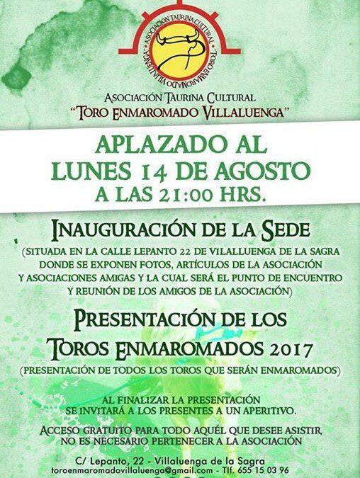 """Inauguración sede Asociación Taurina """"Toro Enmaromado Villaluenga"""""""