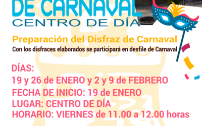 Taller de Carnaval del Centro de Día