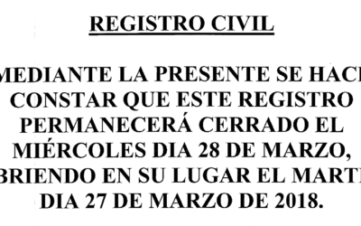 Aviso Registro Civil