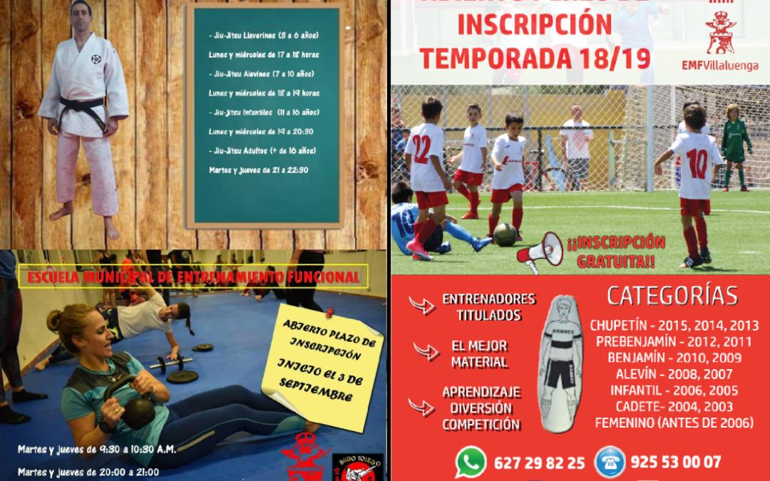 Abierto el plazo de inscripción en Escuelas Municipales Deportivas