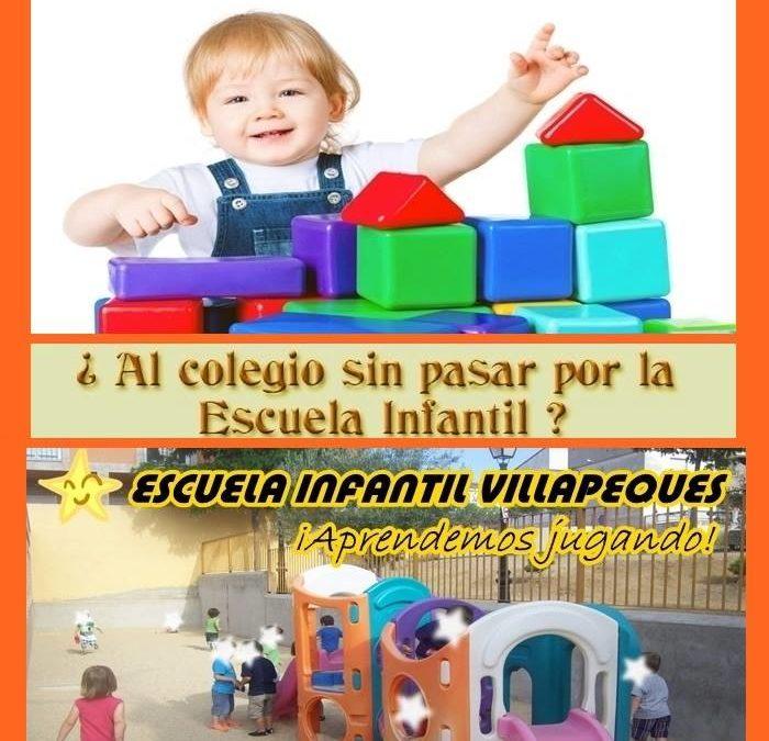 AVISO – Escuela Infantil «Villapeques» – Período de matriculación.