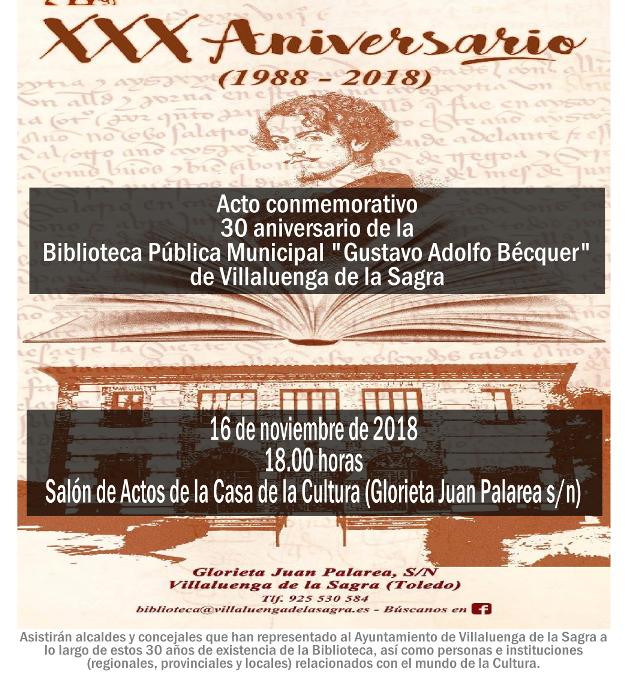 "XXX Aniversario de la BPM ""Gustavo Adolfo Bécquer"""