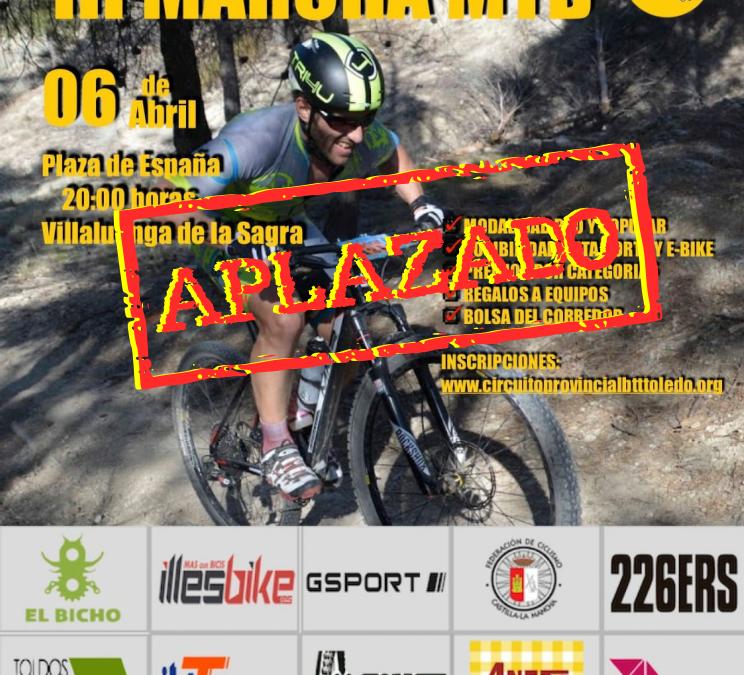 Aviso aplazamiento de prueba ciclista