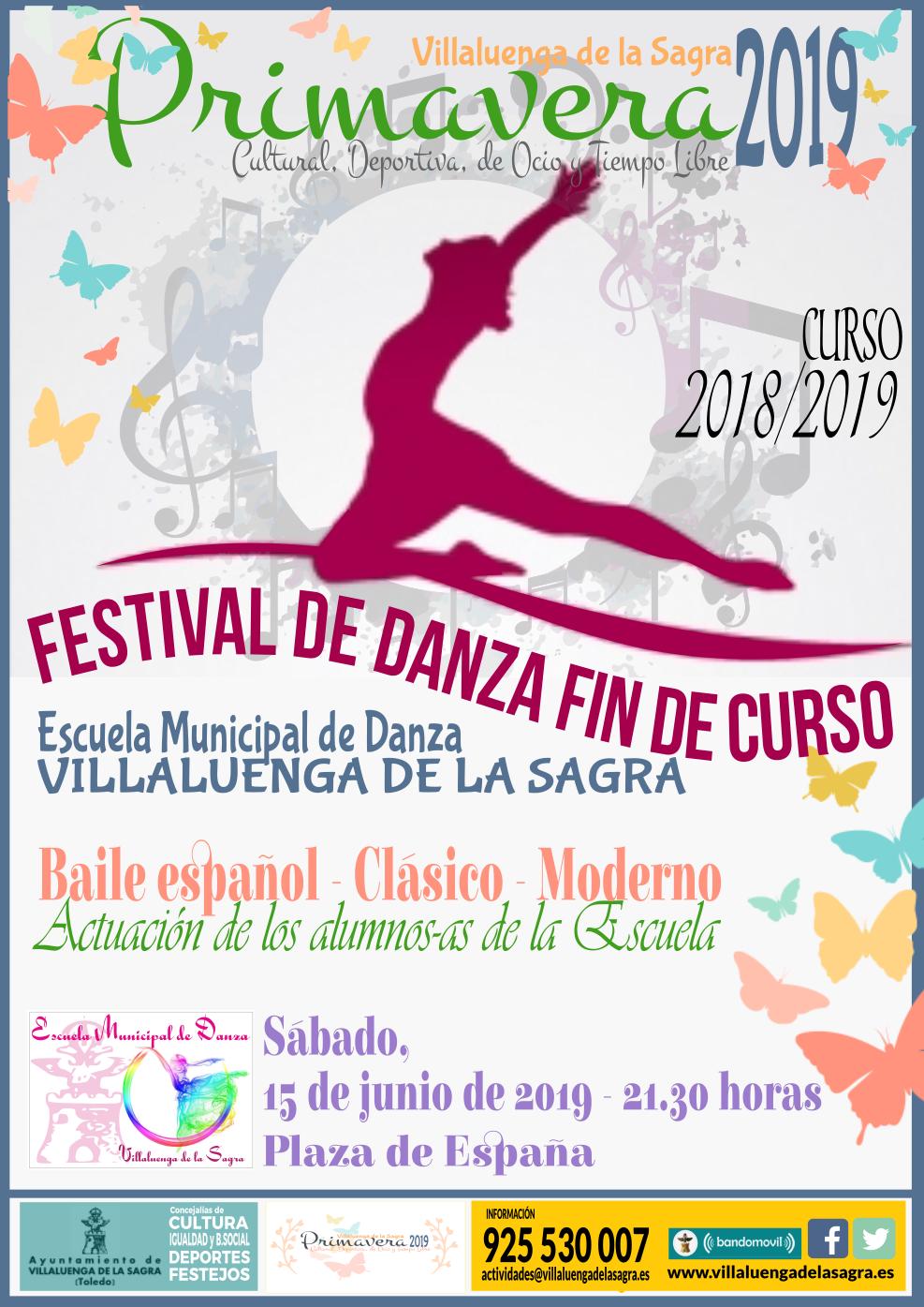 cartel escuela danza festival 1819