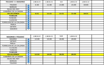 Nuevos horarios ALSA