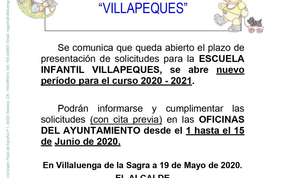 Escuela Infantil «Villapeques» curso 2020-21