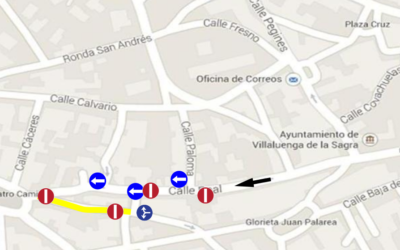 Cambios en tráfico rodado calle Recas y alrededores
