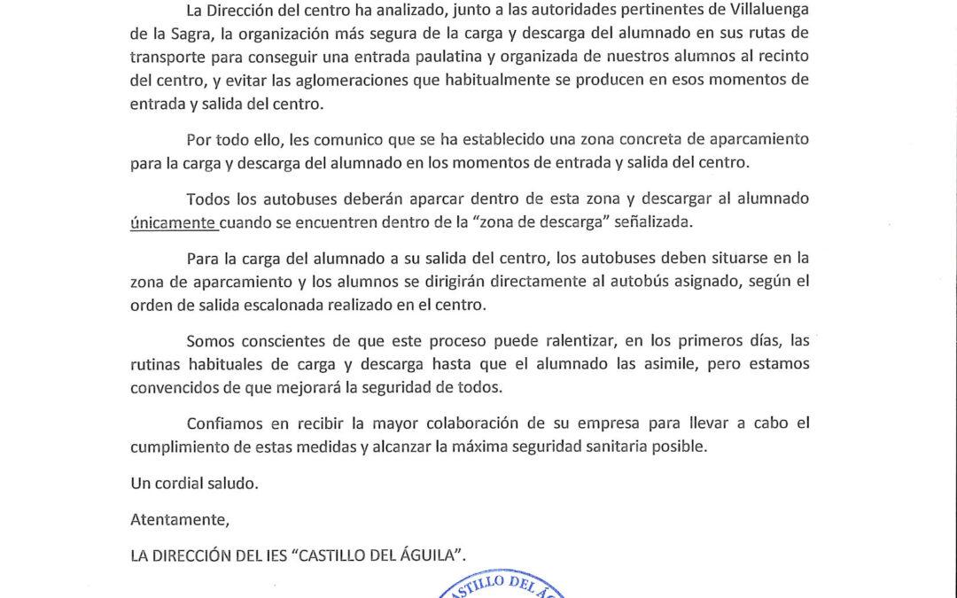 Aviso I.E.S.Castillo del Águila