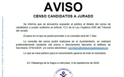 Censo candidatos a jurado