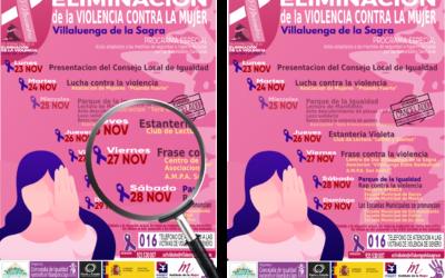 Semana de la Eliminación de la violencia contra la Mujer de Villaluenga de la Sagra – 27 NOVIEMBRE