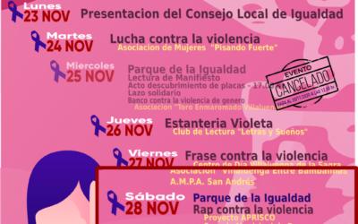 Semana de la Eliminación de la Violencia contra la mujer – 28 de noviembre
