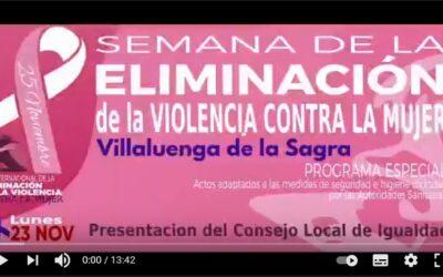 Semana de la Eliminación de la Violencia contra la Mujer de Villaluenga de la Sagra