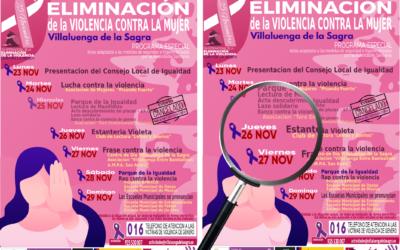 Semana de la Eliminación de la violencia contra la Mujer – Día 26 de noviembre