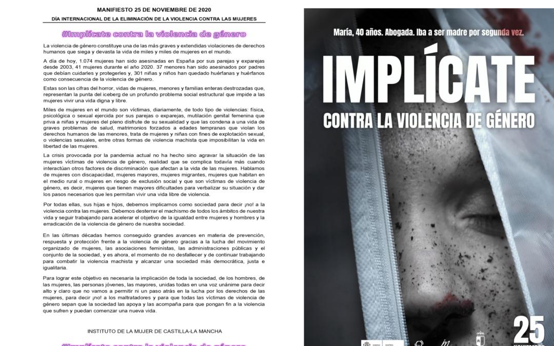 Semana de la Eliminación de la Violencia contra la Mujer – 25/11/2020